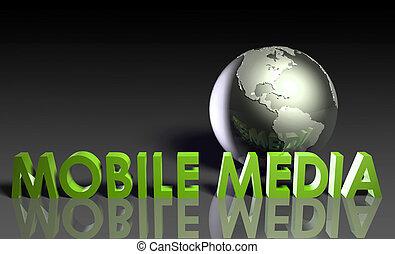 mobile, média