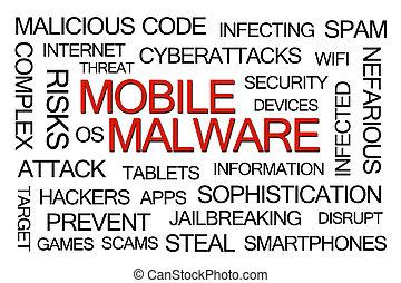 mobile, malware, mot, nuage