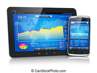 mobile, marché, appareils, stockage