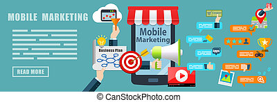 Mobile Marketing Banner Background