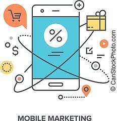 mobile marketing concept - Vector illustration of mobile...