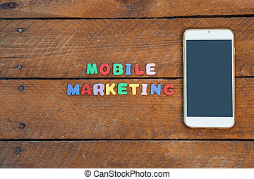 Mobile Marketing concept with smart phone
