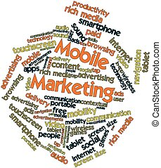 Mobile Marketing - Abstract word cloud for Mobile Marketing...