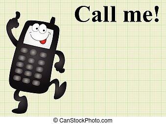 mobile, me, chiamata, telefono