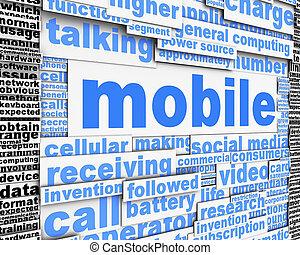 mobile, message, concept