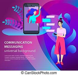 mobile, messengers., sviluppo, domanda
