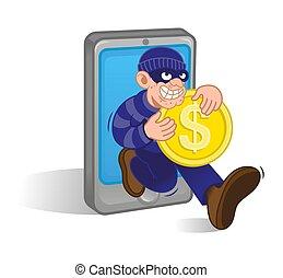 Mobile money thief