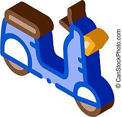 mobile motobike icon vector. isometric mobile motobike sign. color isolated symbol illustration