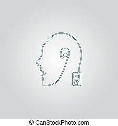 mobile, musique, connexion, technologie, humain