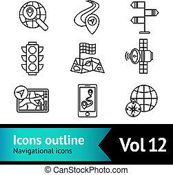Mobile Navigation Icons Set