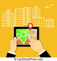 mobile navigator on the tablet