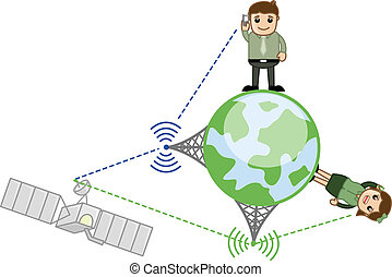 Mobile Network - Vector Concept