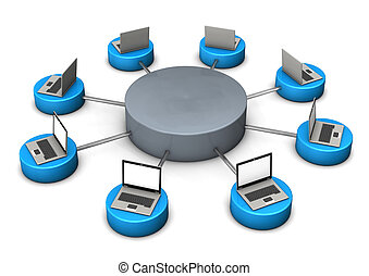 Mobile Networks - Illustration of mobile networks, with...