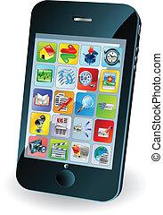 mobile, nouveau, intelligent, téléphone