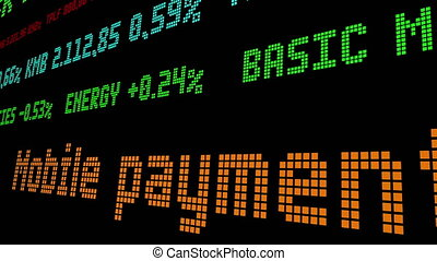 mobile, paiements, ticker, bataille, carte, crédit, dominance, stockage