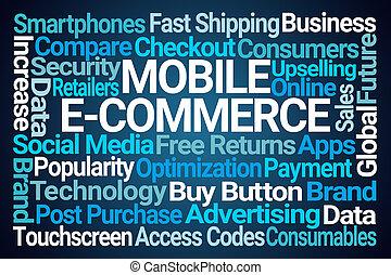 mobile, parola, ecommerce, nuvola