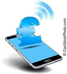 mobile, payer, espèces, téléphone, cellule, intelligent