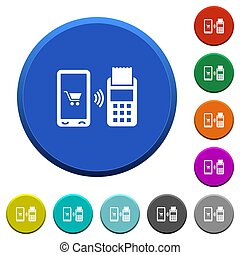 Mobile payment beveled buttons
