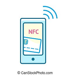 Mobile payment concept - Mobile payment processing concept....
