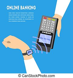 Mobile payment. Digital money transaction through device