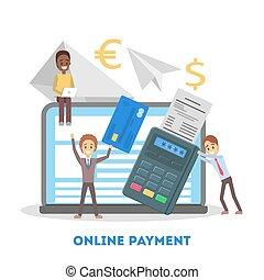 Mobile payment set. A digital money transaction