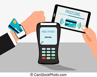 Mobile payments with smart watch and smartphone,...