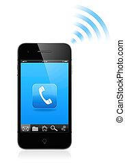 Mobile phone - 3D illustration of modern smartphone....