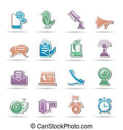 Mobile Phone and communication icon