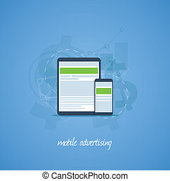Mobile phone and tablet marketing a