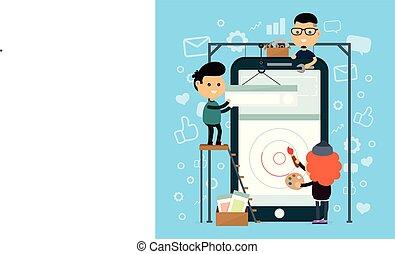 Mobile phone app design and development
