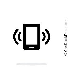Mobile phone bell icon on white background.