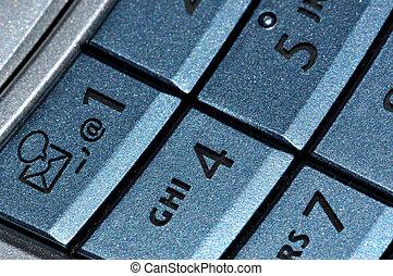 Mobile phone blue keyboard