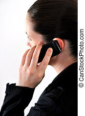 Mobile Phone Call - Concept photo of a female talking on a...