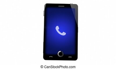 Mobile phone calling concept with