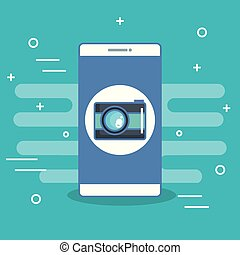 mobile phone camera application photo selfie icon