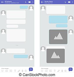 Mobile phone chat interface