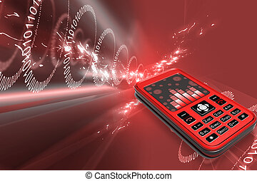 Mobile phone - Highly quality rendering of mobile phone in...