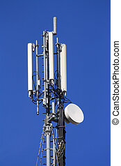A mobile phone communication repeater antenna