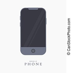 Mobile phone design icon. Vector illustration