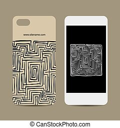 Mobile phone design, labyrinth square
