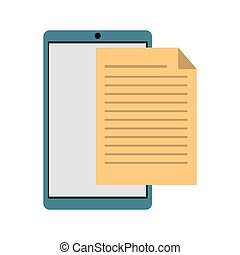 mobile phone document file paper digital