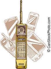 Mobile phone. Evolution.