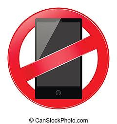 mobile phone forbidden