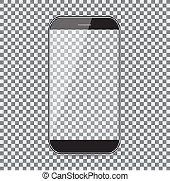 mobile phone icon. Black icon on transparent background.
