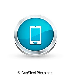 Mobile phone icon, button
