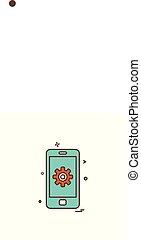 Mobile phone icon design vector