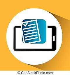 mobile phone icon document social media