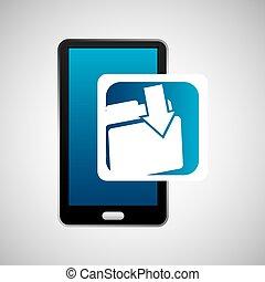 mobile phone icon file folder social media