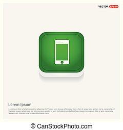 Mobile phone icon Green Web Button