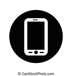 Mobile phone icon illustration design